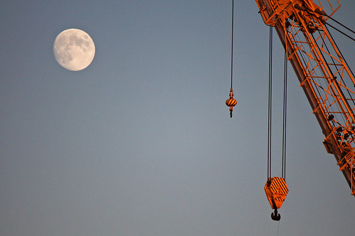 Moon and Crane 1 | by nelights
