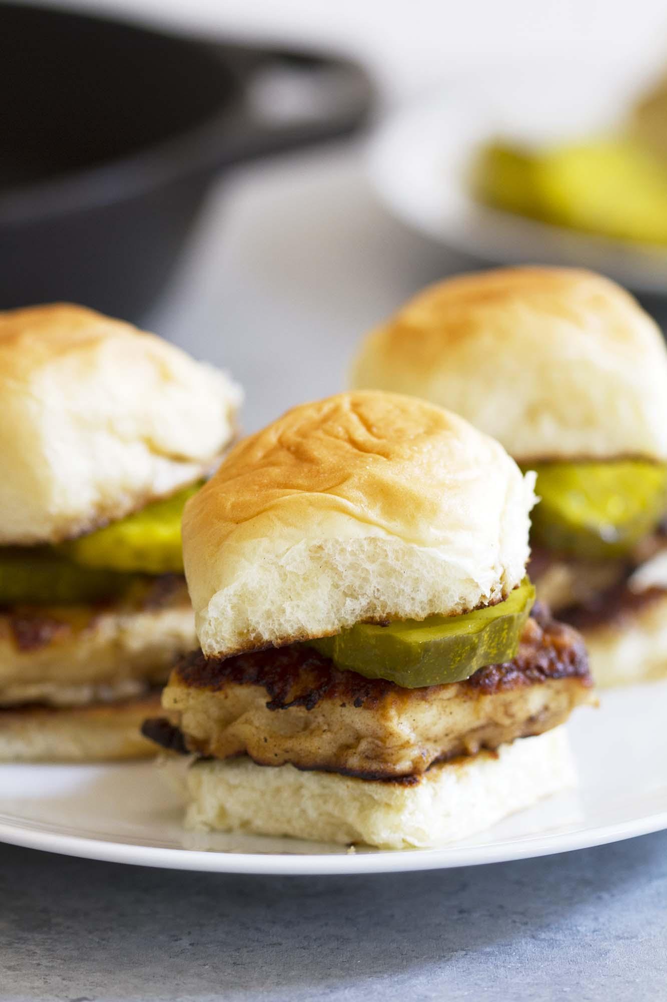 Southern Style Chicken Sandwiches | girlversusdough.com @girlversusdough