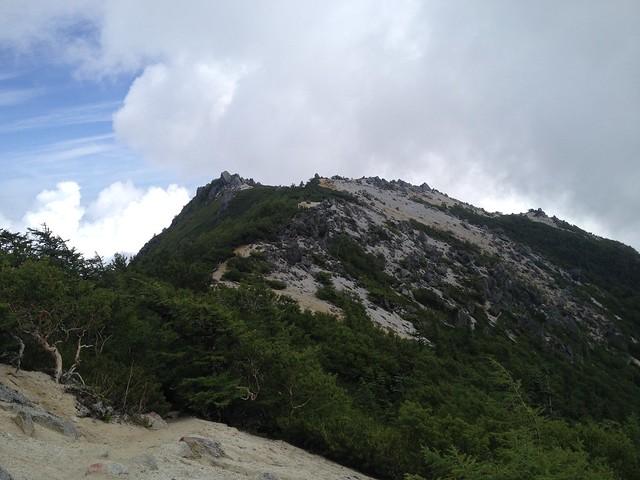 鳳凰山 観音岳~薬師岳登山道より薬師岳