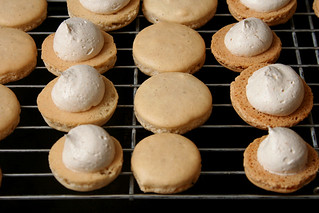 apple cinnamon macarons 3 | by crumblycookie