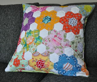 finished hexagon pillow | by vickivictoria
