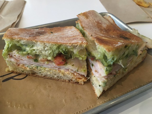 Turkey pesto sandwich - Acre Coffee