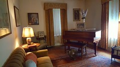 Sitting room with piano