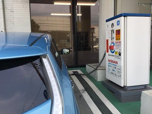 熊本日産 熊本支店 EV急速充電器