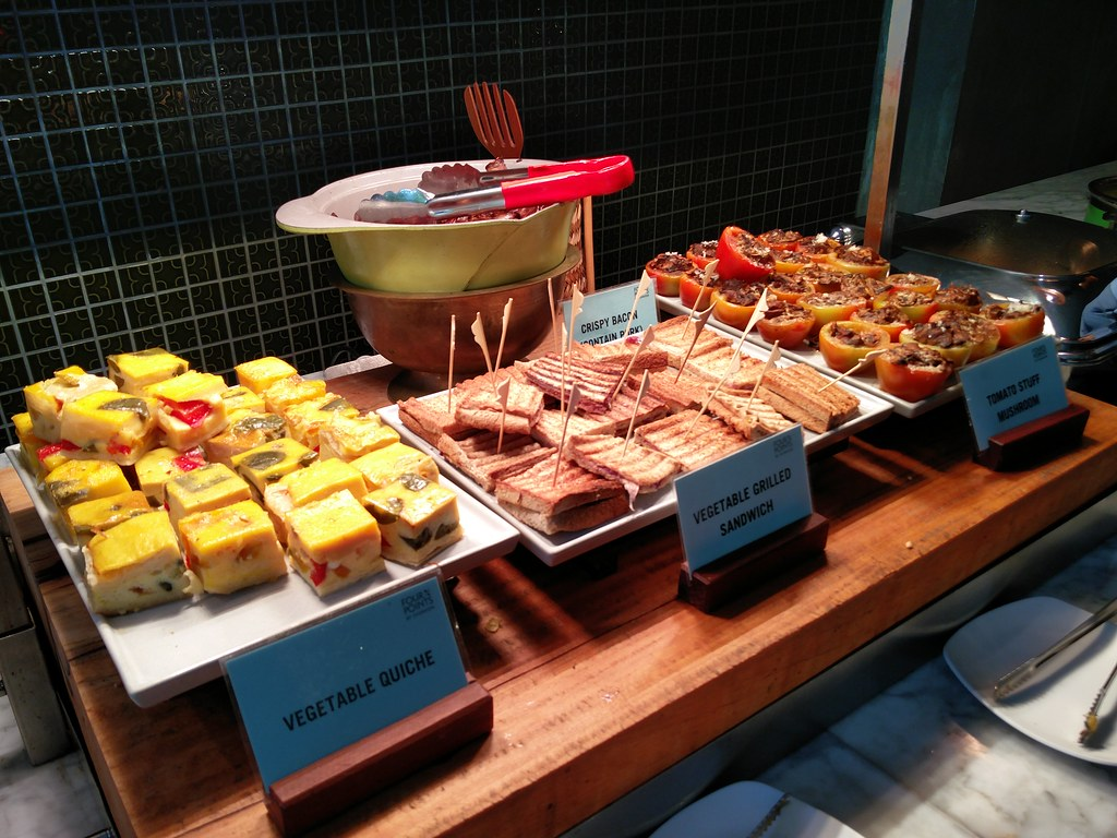 Assorted food on the buffet