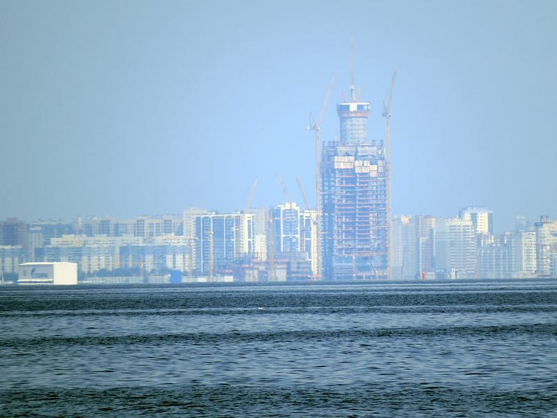 Строящийся бизнес-центр «Лахта-Тауэр»
