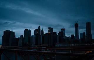 Post-Sandy Manhattan Skyline from the Brooklyn Bridge | by ekonon