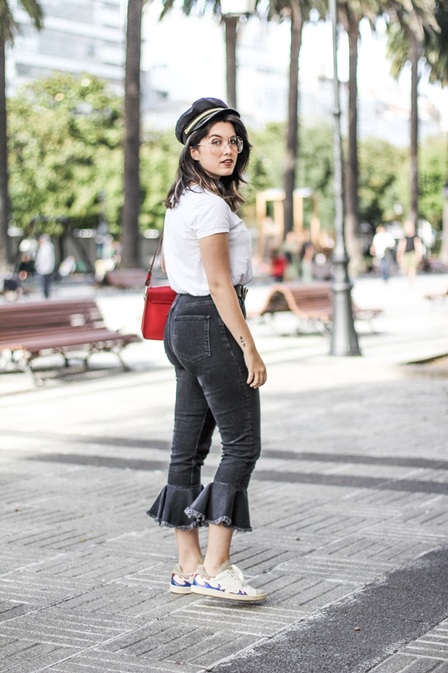 ruffle pants with isabel marant sneakers ner sunglasses asos streetstyle myblueberrynightsblog