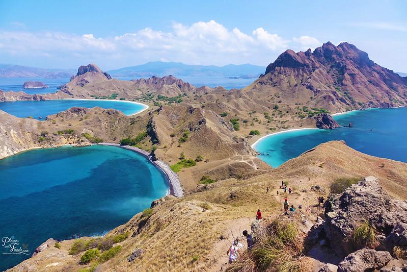 padar island top view