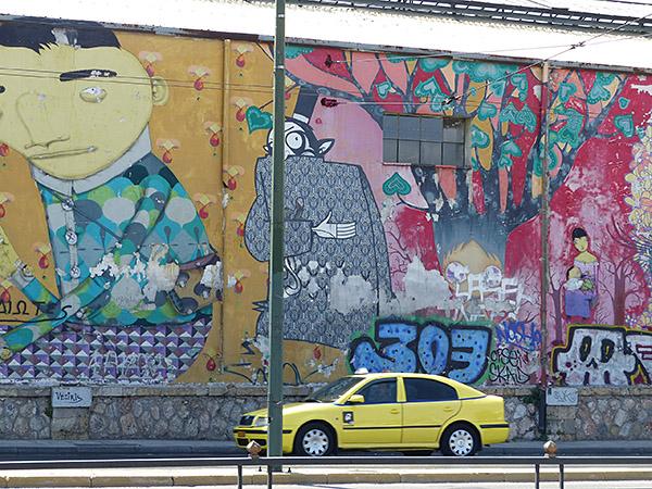 taxi devant tag