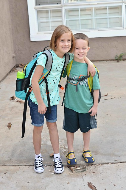 Harper and Jonah 1st Day fo School 2016