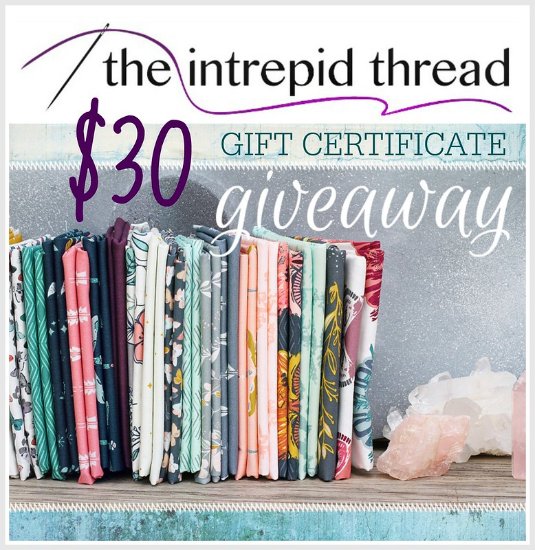 Intrepid Thread $30 Gift Certificate GIVEAWAY!