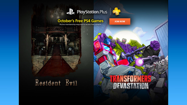 PS Plus, October 2016