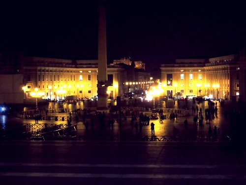 Vatican St Peter Square night