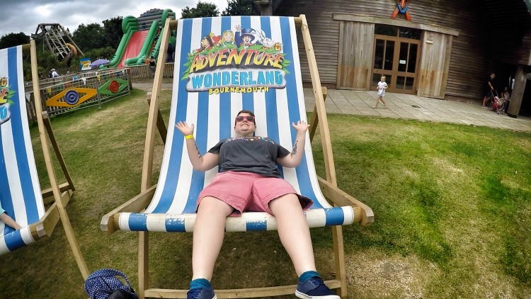 adventure wonderland deck chair