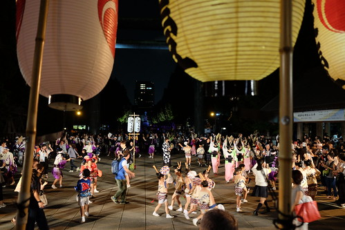 Night awa odori dance