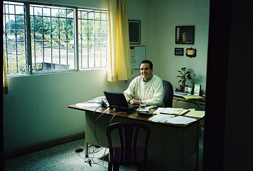 Jeff in the house-office in Guatemala
