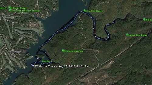 Lake Keowee Paddle Route