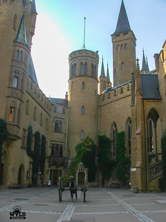 court yard at Hohenzollern Castle Germany