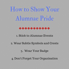 How to Show Your Alumnae Pride