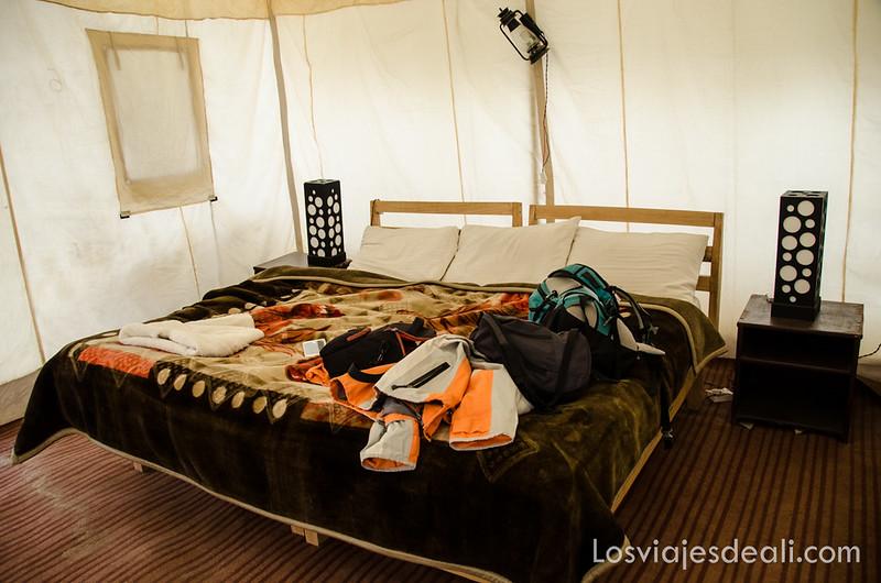 campamento del lago pangong