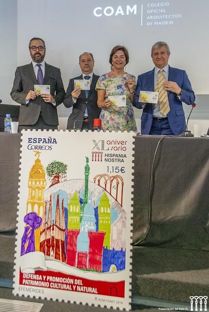 Presentación del sello de Hispania Nostra