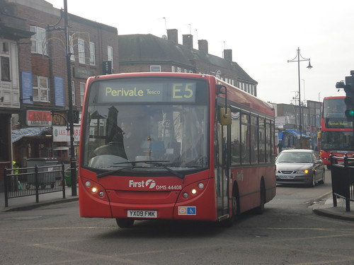 First London DMS44408 on Route E5, Southall Town Hall
