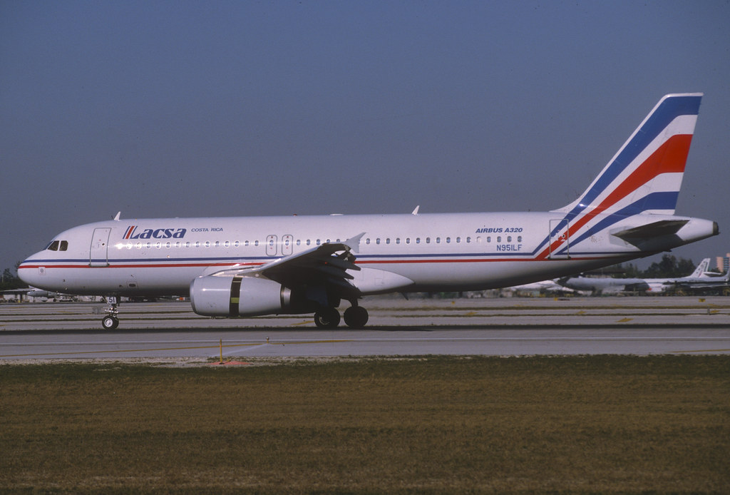 LACSA Costa Rica Airbus A320-232; N951LF, March 1995/ABQ