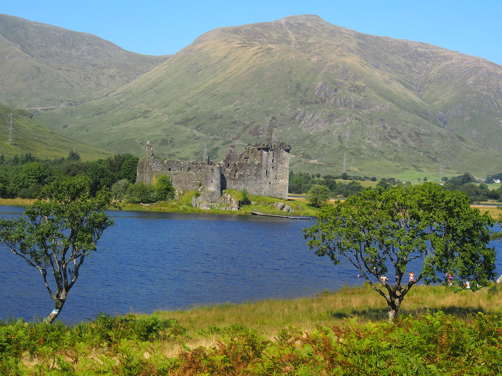 Landscae view of Kilchurn Castle, Loch Awe, Scotland.