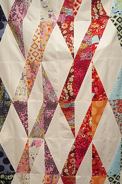 Twizzle Quilt Top Unquilted