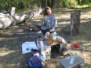 Camping rough