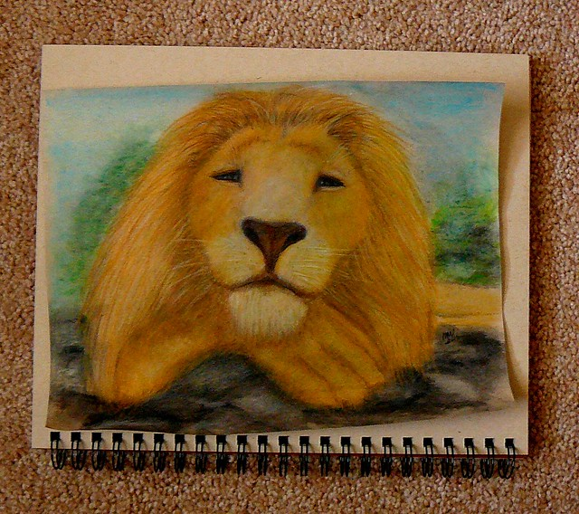 lion......watercolor..