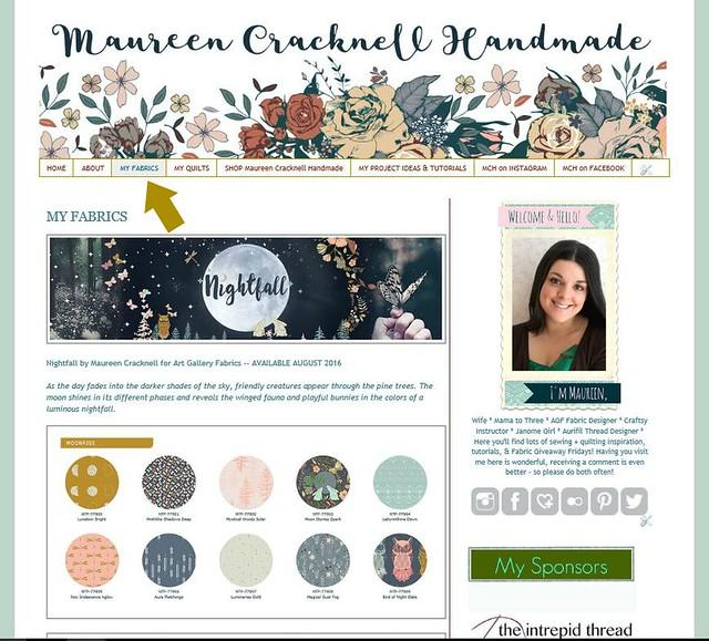 My Fabrics Page