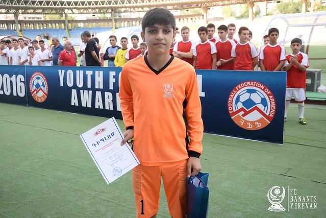 Հայաստանի մանկապատանեկան ֆուտբոլի 2015/16 մրցաշրջանի մրցանակաբաշխությունը