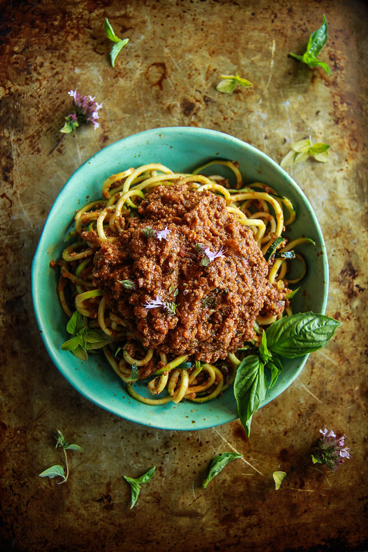 The Best Bolognese with Zoodles from HeatherChristo.com