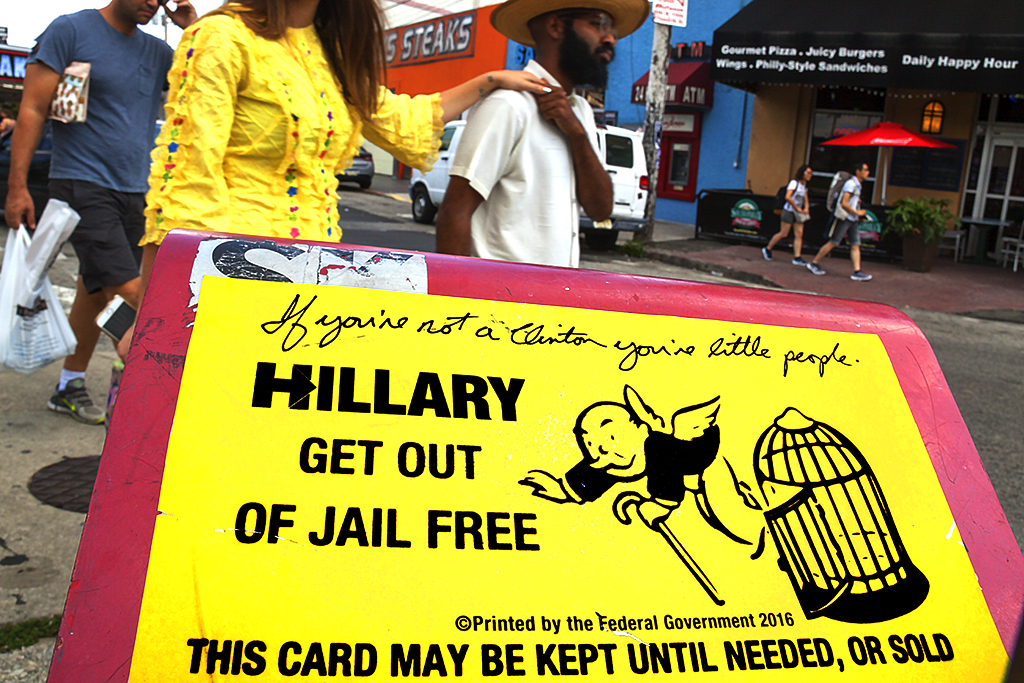 HILLARY GET OUT OF JAIL FREE--Passyunk Square