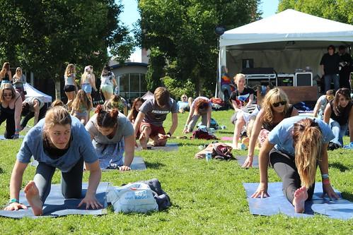 Yoga at Bumbershoot 2016