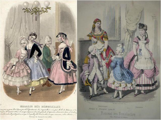 Costumes rococo vus par le XIXème siècle
