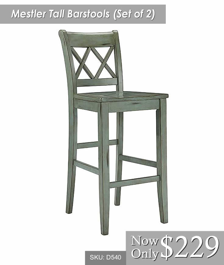 Mestler Tall Barstool Set of 2
