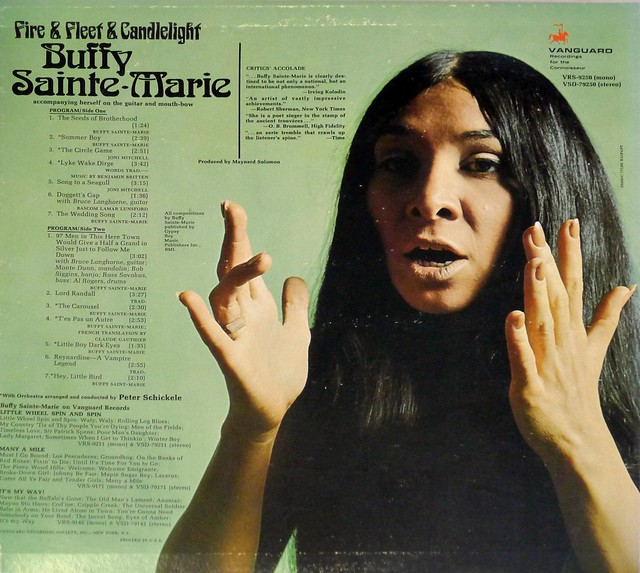 "BUFFY SAINTE-MARIE - Fire & Fleet & Candlelight 12"" LP VINYL"