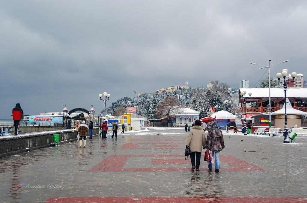 Seafront in winter