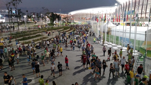 Barra Olympic Park, the main cluster of event venues during the Rio Games