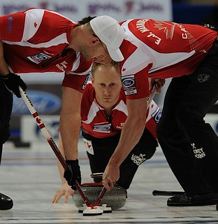 Victoria B.C.April 7,2013.Ford Men's World Curling Championship.Canada Brad Jacobs,lead Ryan Harnden,second E.J.Harnden.CCA/michael burns photo | by seasonofchampions
