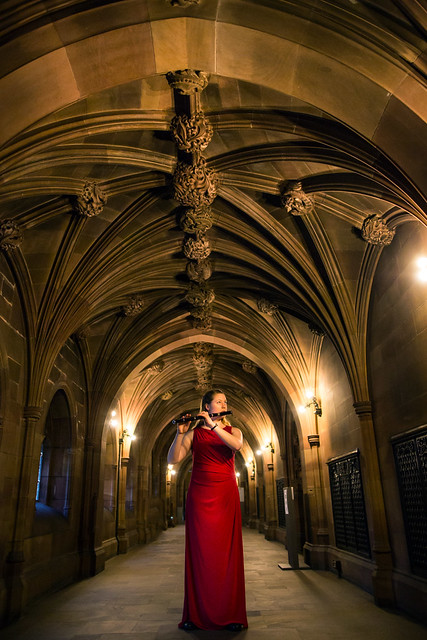 Lily at John Rylands Library Manchester