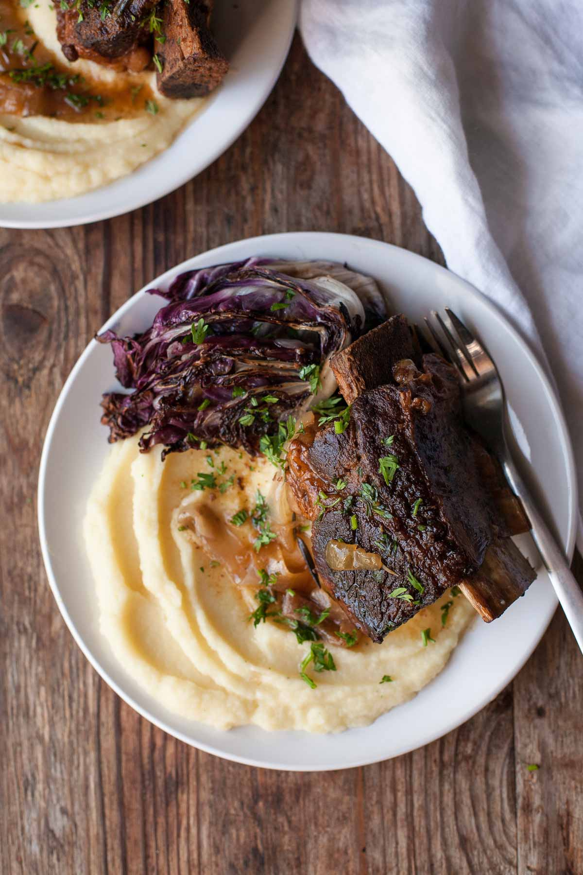 Slow-Cooker Balsamic Short Ribs with Parsnip Puree