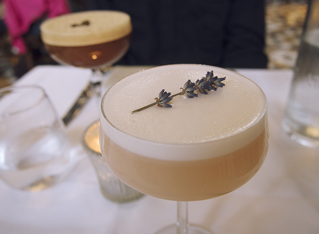 Lavender lady & espresso martini cocktails