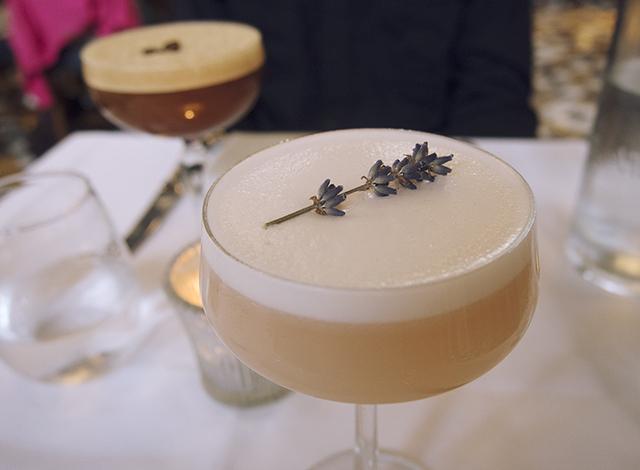 Lavender lady & espresso martini cocktails