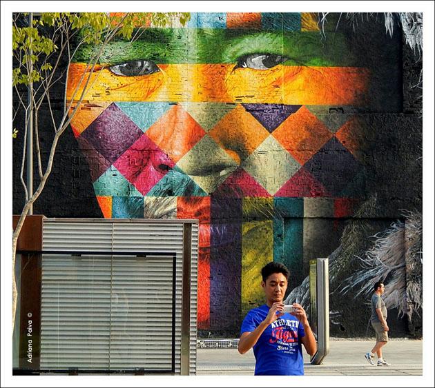 Grafite no Pier mauá Fotos de Adriana Paiva