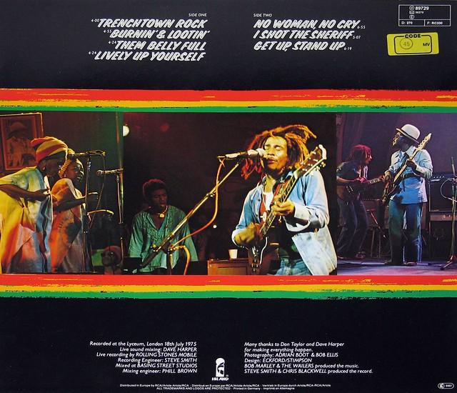 "BOB MARLEY & THE WAILERS - WAILERS LIVE 12"" vinyl LP"