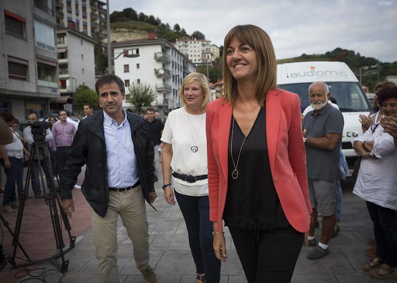 Idoia Mendia y Susana Corcuera en Eibar